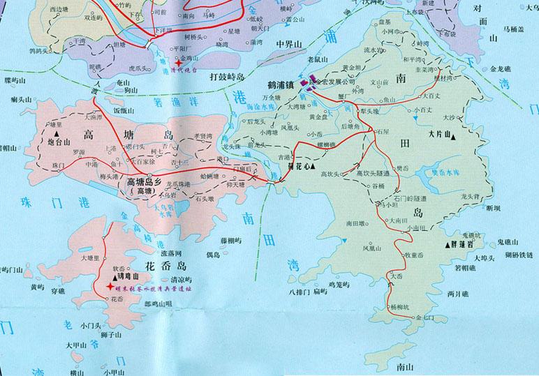 象山县地图-高塘,花岙