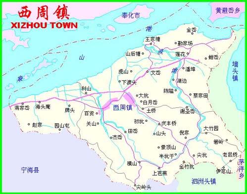 象山县行政地图